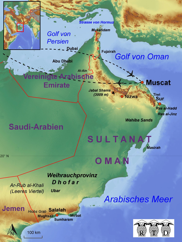 Karte Oman.Rtd Reisen Reiseziele Aktuelles Oman