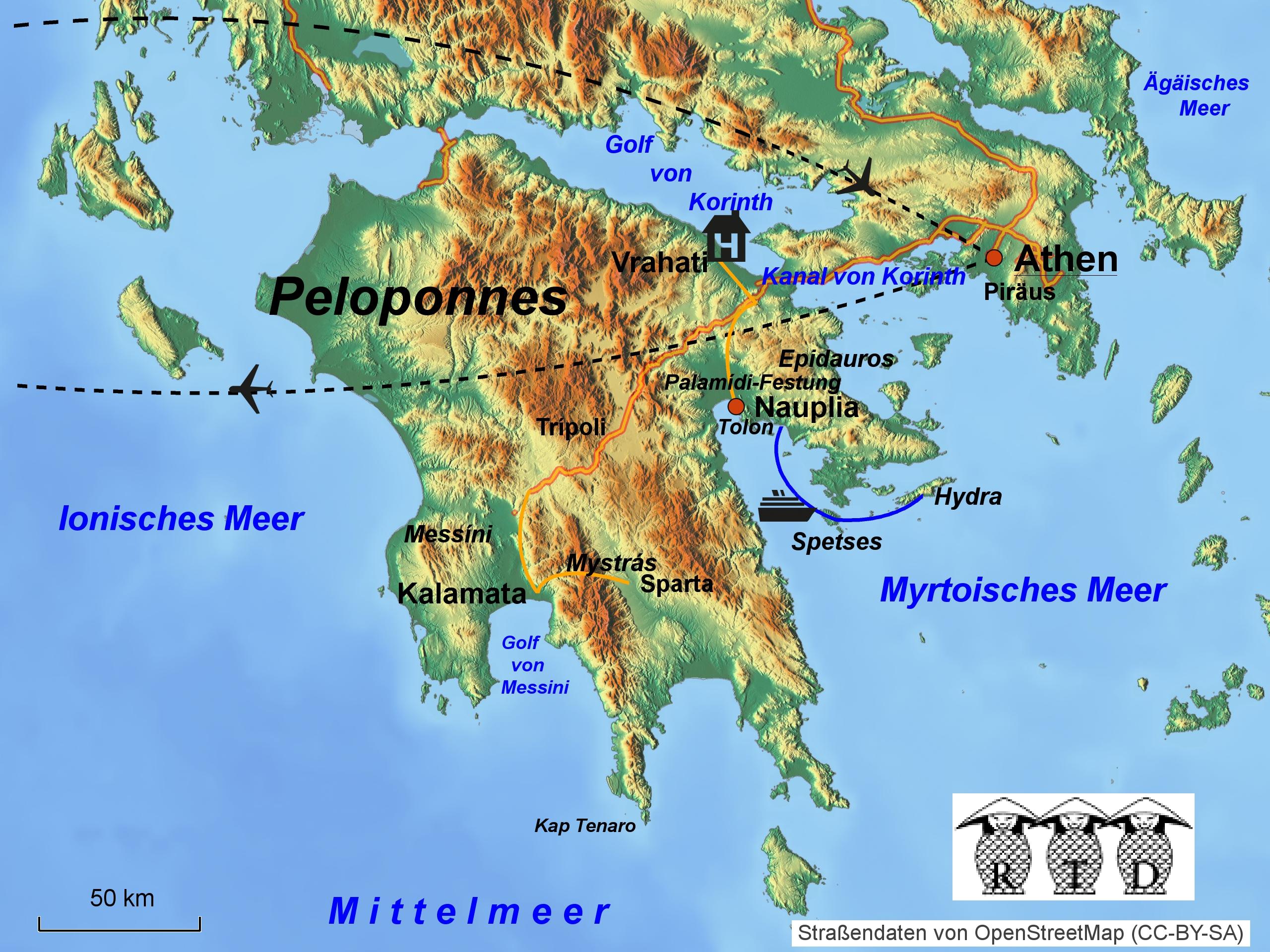 Karte Griechenland Peloponnes.Rtd Reisen Reiseziele Aktuelles Griechenland